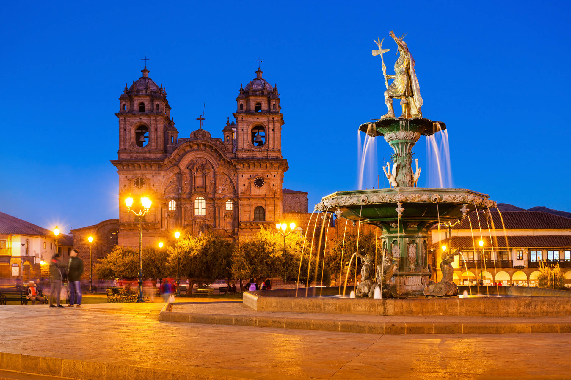 Plaza del Cusco de noche